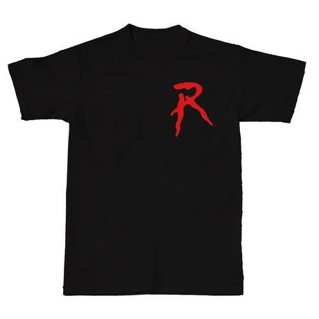 R Tシャツ【BLACK】
