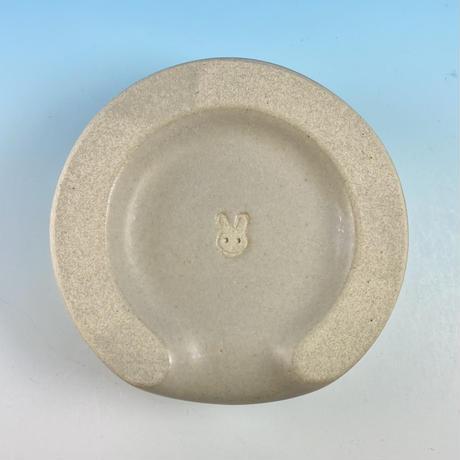 【Special orders】名入れのうさぎ様用食器・SSサイズ、Sサイズ、SMサイズ(呉須・灰透明釉・うさぎ印)