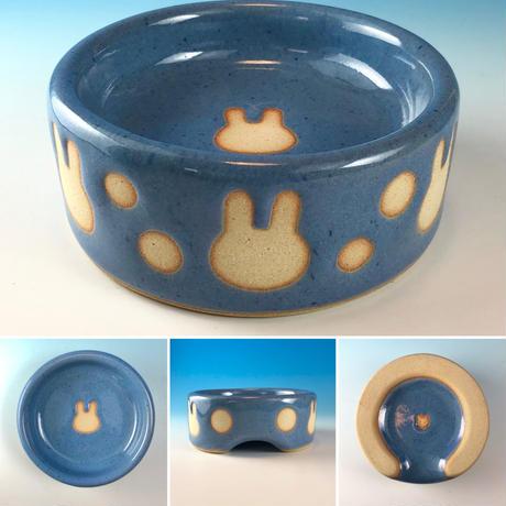 【Special orders】うさぎ水玉模様のうさぎ様用食器・Mサイズ、MLサイズ、Lサイズ(選べるカラー12色・うさぎ印)