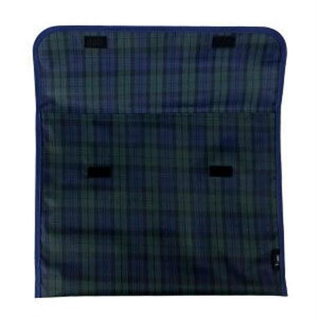 防災頭巾カバー【小学校の椅子の背もたれに差し込めるタイプ】 グリーンチェック柄 日本製 HIROオリジナル BZC2002  ゆうパケット(ポスト投函)