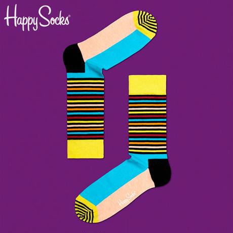 【SALE】Happy Socks〈ハッピーソックス〉/ 靴下 ストライプハーフ【sh01025】