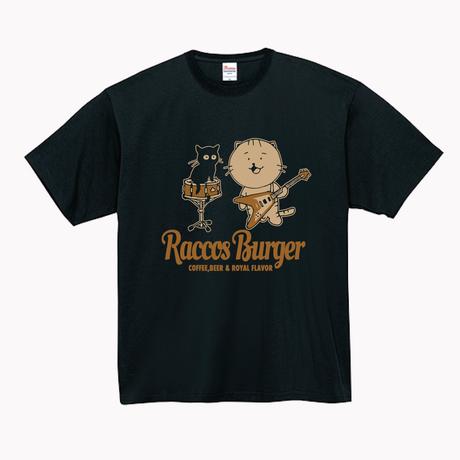 RACCOS BURGER 音楽と共にTシャツ【受注生産】