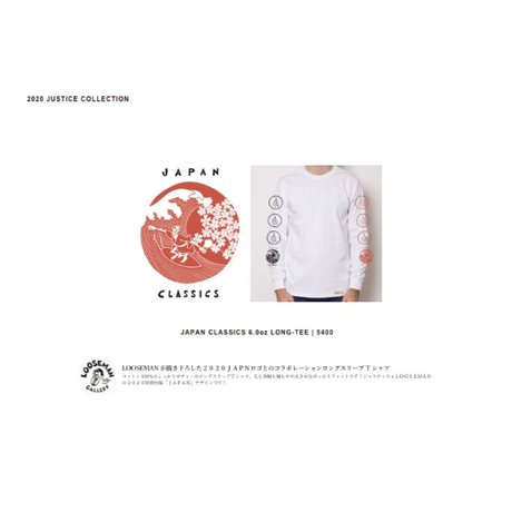 【JUSTICE】 JAPAN CLASSICS 6.0oz LONG-TEE