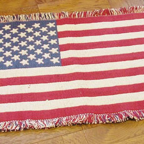 フロアマット【アメリカ雑貨】星条旗ラグマット 75cm×45cm