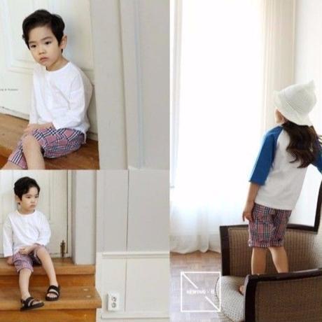 チェック柄ショートパンツ 韓国子供服