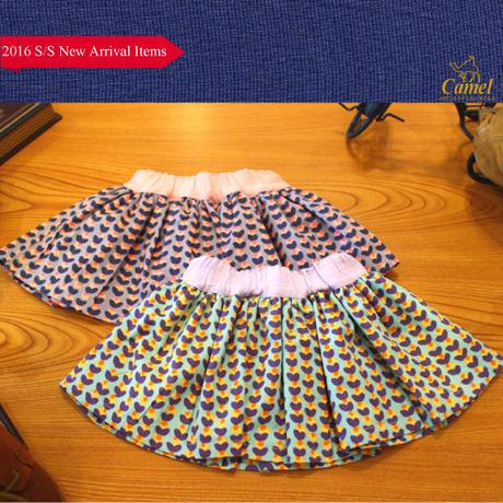 ハート総柄フレアスカート 韓国子供服