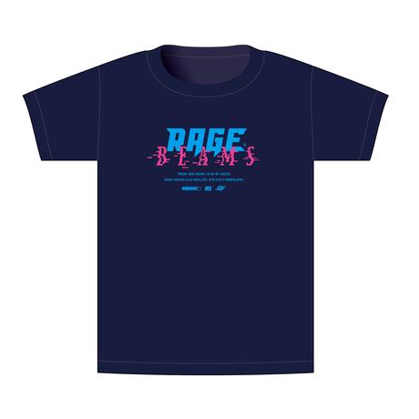 【BEAMSデザイン】RAGE ASIA 2020 オフィシャルTシャツ  GAME NAVY