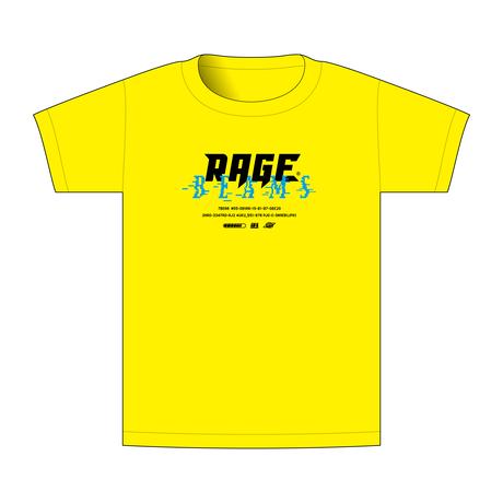 【BEAMSデザイン】RAGE ASIA 2020 オフィシャルTシャツ  GAME YELLOW
