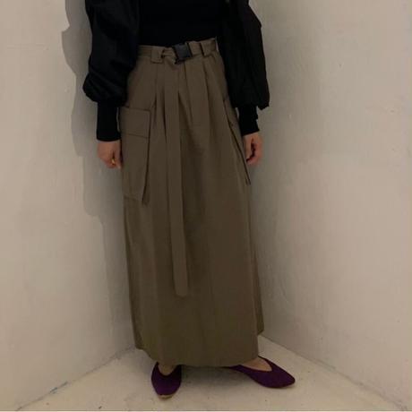 ミリタリーlongスカート/khaki