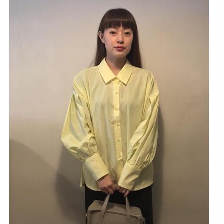 ボリュームスリーブシャツ/yellow