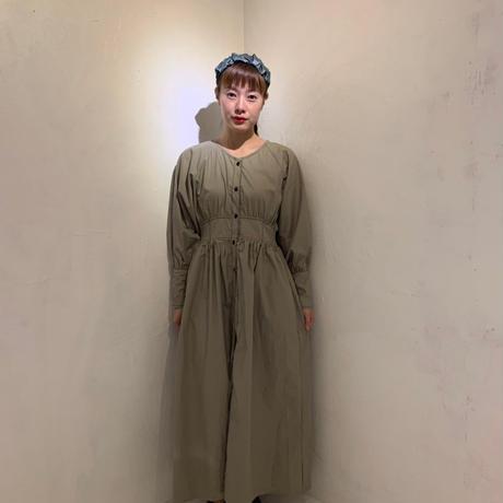 ボリュームcottonドレス/khaki