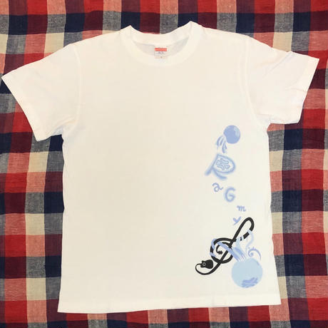 Blew Jelly Fish Tシャツ(白)