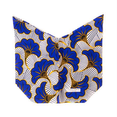 アフリカ布インナーバッグ【Blue】