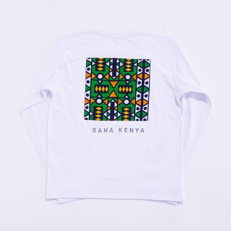 アフリカンロングスリーブ【White x Green】