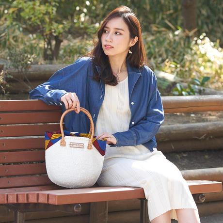 ホワイトサイザル+インナーバッグ【Red】