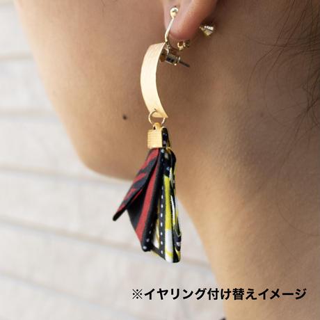 アフリカ布ピアス【Rectangle / 長方形】