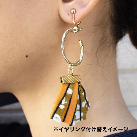 アフリカ布ピアス【Ring / リング 】