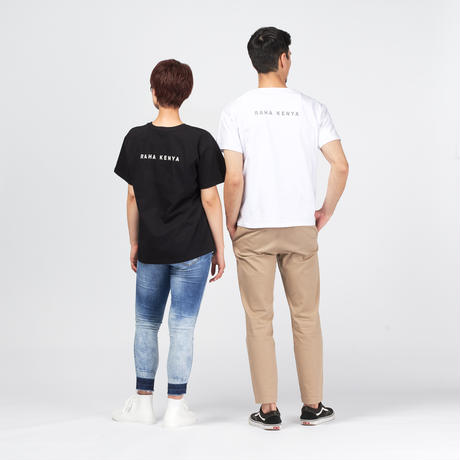 アフリカンTシャツ【White x Tribe】