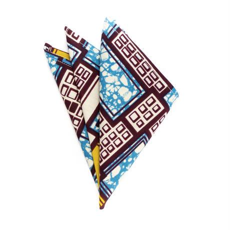 アフリカ布ポケットチーフ【Soukous / スークース】