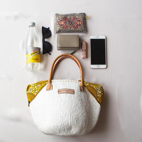 ホワイトサイザル+インナーバッグ【Lime Green】