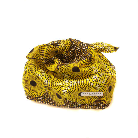 アフリカ布インナーバッグ【Yellow】
