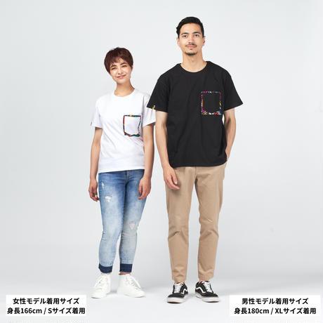 アフリカンTシャツ【White x Kente】