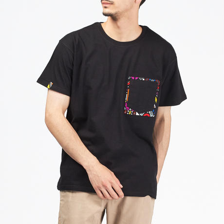 アフリカンTシャツ【Black x Tribe】