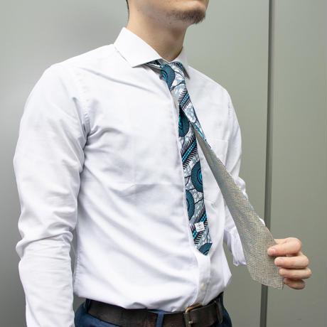 アフリカ布 x 西陣織ネクタイ【松】