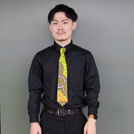 アフリカ布 x 西陣織ネクタイ【竹】