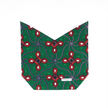 アフリカ布インナーバッグ【Green】