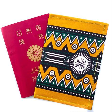 アフリカ布パスポートカバー【Jioni / 夕方】