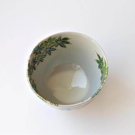 青楓に翡翠図 茶碗|山本雄次