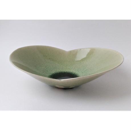 灰釉 輪花鉢|竹村繁男