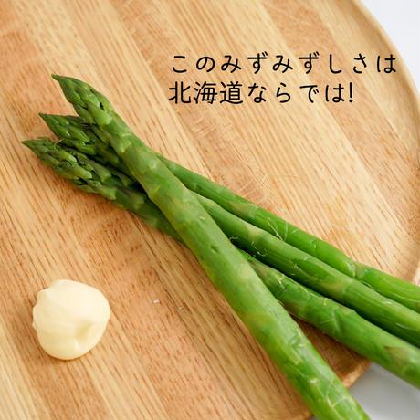 【6月20日終了&太さはおまかせ】朝採れアスパラ+よつばの北海道発酵バター+おまけ付き【ご注文後3〜7日で発送】