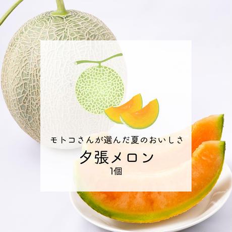 【みずみずしい初夏の甘さ】モトコさんが選んだ夕張メロン 1個【ご注文後7日以内に発送】