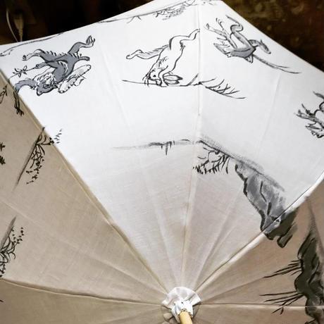 日傘鳥獣戯画