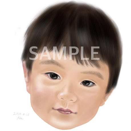 Simple portrait オーダー似顔絵(1人)