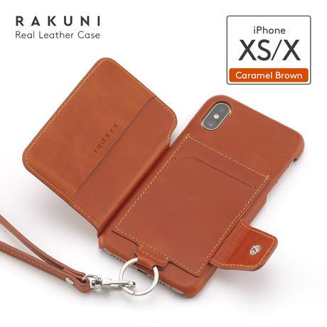 iPhoneX/XS 本牛革 RAKUNI iPhoneケース