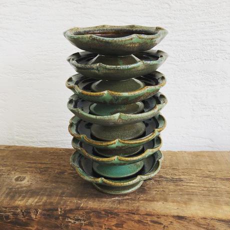 飴 × 緑釉 プリンアラモードの器(2)