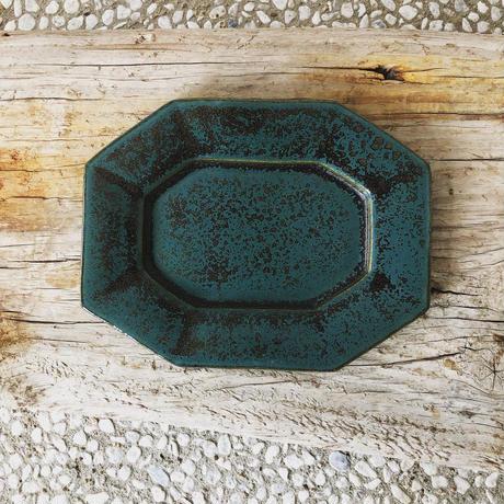 淡路島ブルー八角長方皿