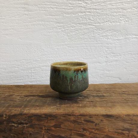 緑飴 × 藁灰釉 スープ碗