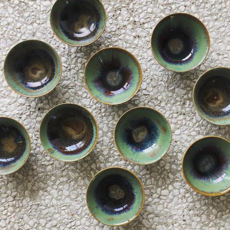飴 × 緑釉 碗 (小)
