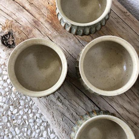 土部 × 藁灰釉 鎬丸湯呑み