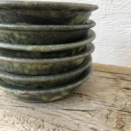 緑釉グラタン皿