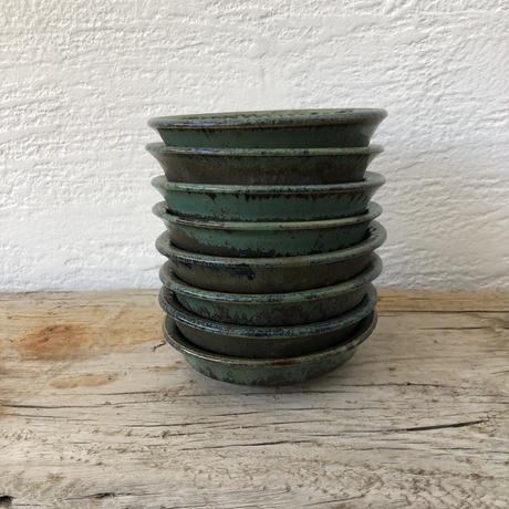 飴 × 緑釉 鎬小鉢