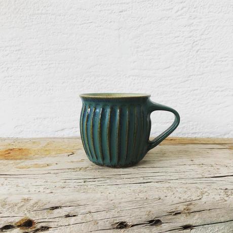 淡路島ブルー 鎬マグカップ