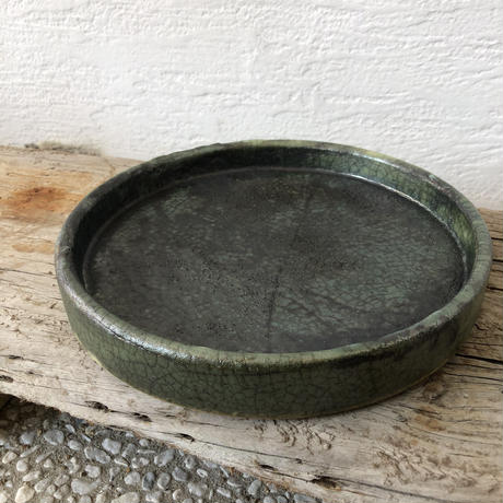緑釉耐熱皿