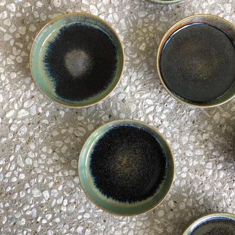飴 × 緑釉 プリンアラモードの器