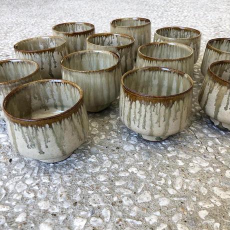 鉄流し藁灰釉 スープ碗
