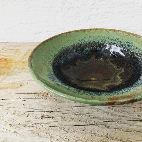 飴 × 緑釉 リムボウル